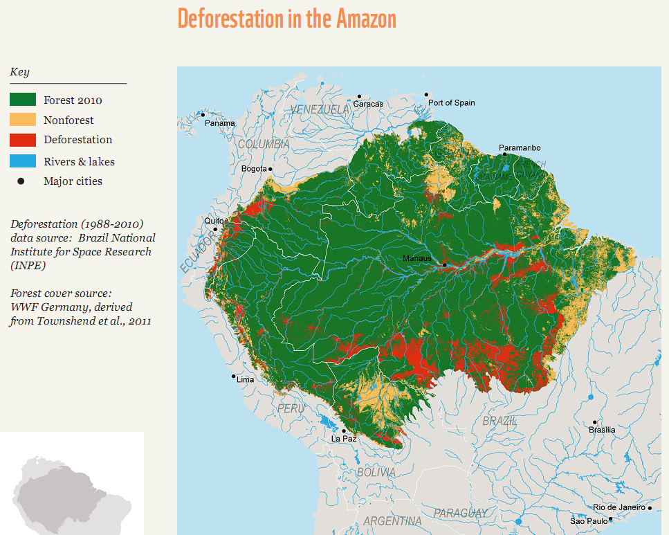 Amazon River In South America Map.Amazon Rainforest Facts Amazon Rain Forest Map Information Travel