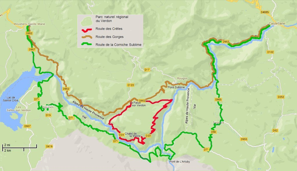 Verdon Gorge Routes