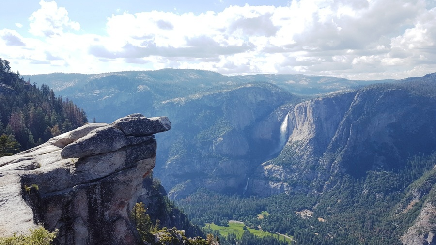 yosemite falls viewed from glacier point