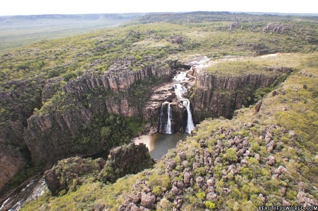aerial-view-of-twin-falls-kakadu-national-park