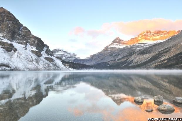 bow-lake-banff-at-sunrise