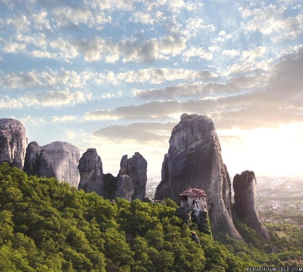 meteora-at-sunset