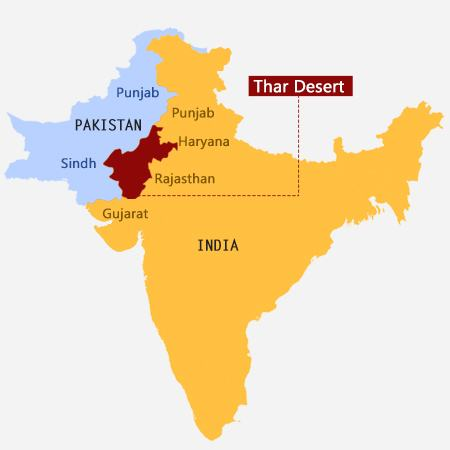 Map of the Thar Desert
