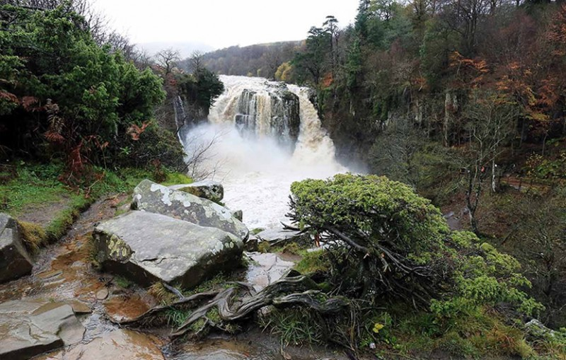 High Force Waterfall From Above