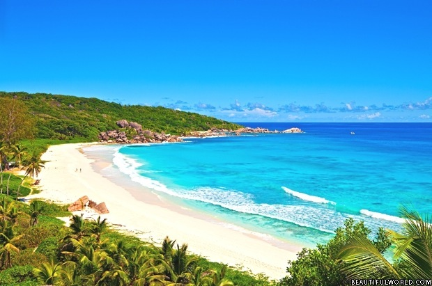 One of La Digue Island's Beaches, Seychelles