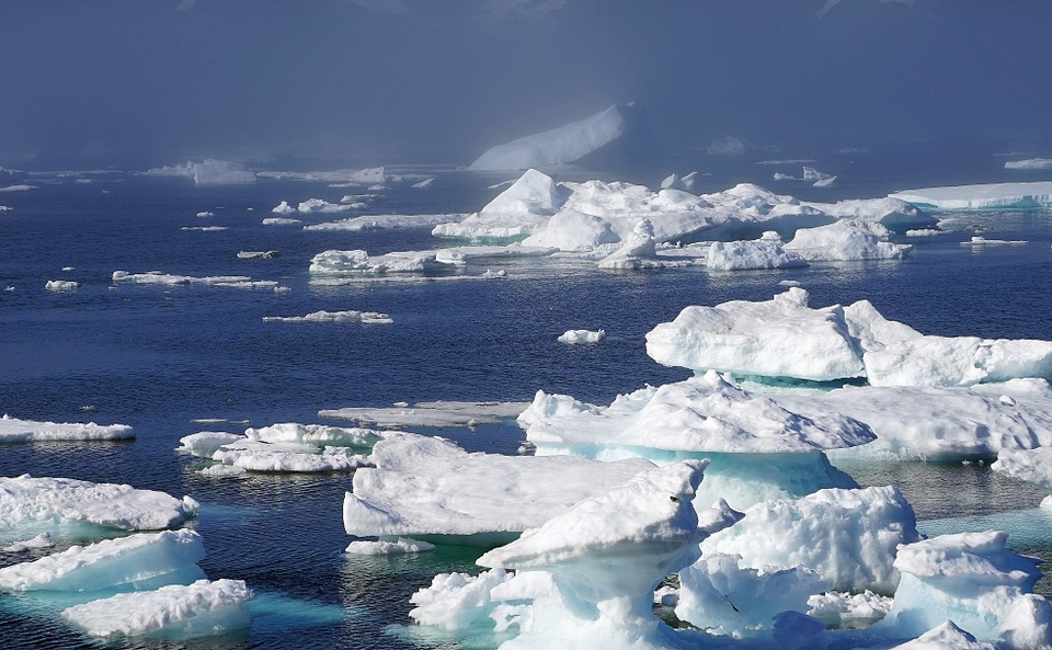 Arctic Circle icebergs in Greenland