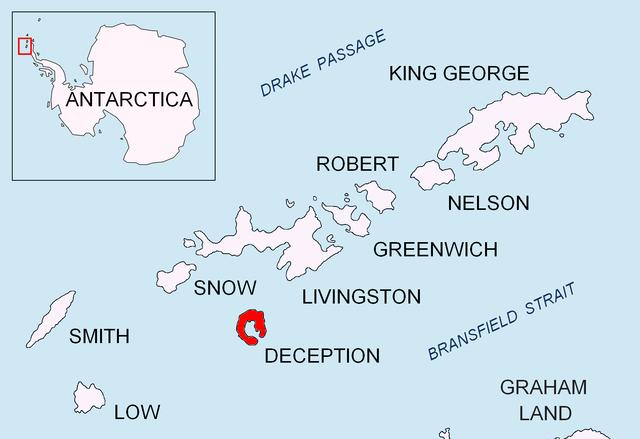 Deception Island location map