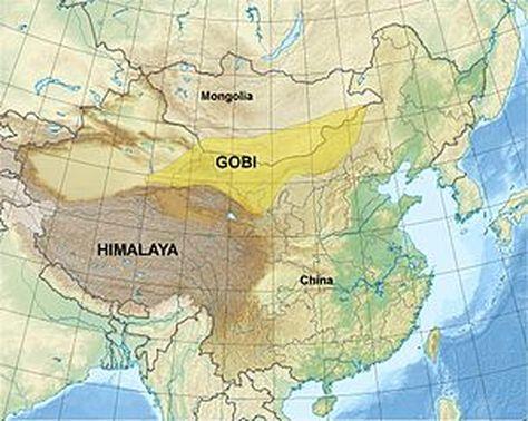 Gobi Desert Map