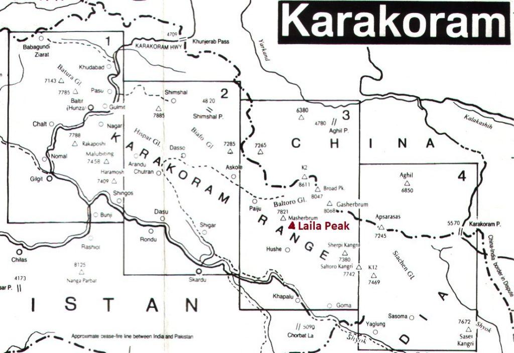 Laila peak map