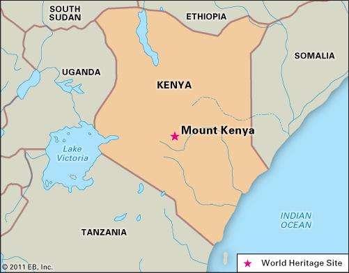 Map of Mount Kenya