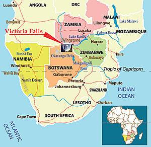 Map of Victoria Falls