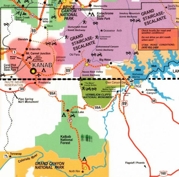 Map Of Arizona Border.The Wave Arizona Beautiful World Guide
