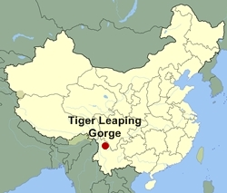Tiger Leaping Gorge Location Map