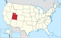 Location map of Utah