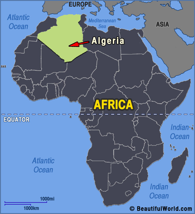 Map of Algeria   Facts & Information   Beautiful World Travel Guide