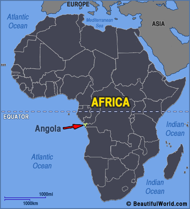 Angola On Africa Map.Map Of Angola Facts Information Beautiful World Travel Guide