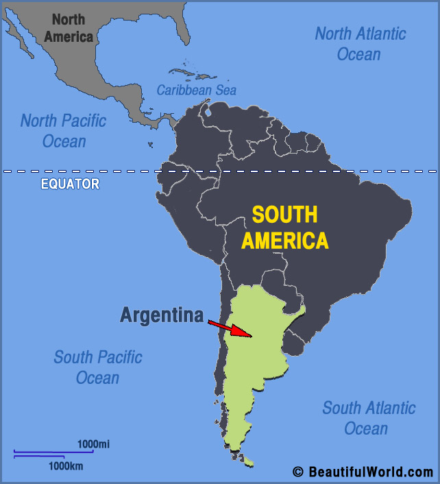 Map of Argentina  Facts  Information  Beautiful World Travel Guide