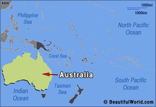 australia oceania map