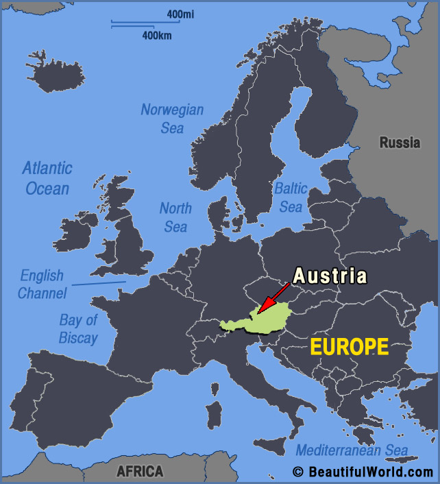 Map Of Austria Facts Information Beautiful World Travel Guide - Austria europe map