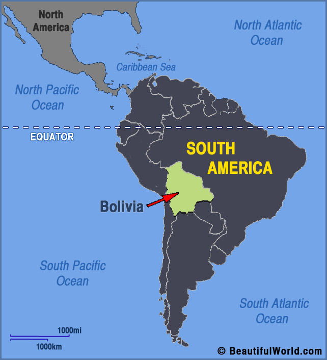 Where Is Bolivia On A Map Map of Bolivia   Facts & Information   Beautiful World Travel Guide