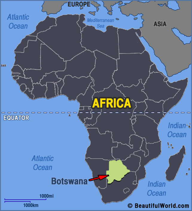Map of Botswana   Facts & Information   Beautiful World Travel Guide