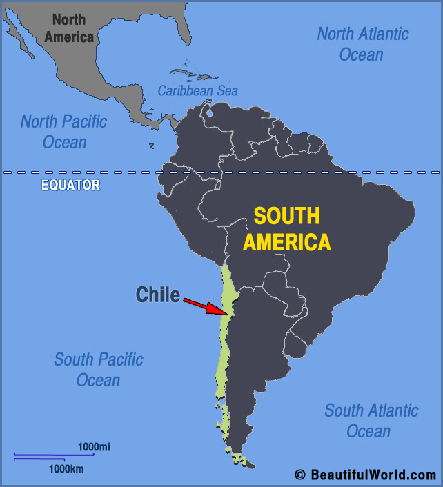 where is santiago chile on the world map Map Of Chile Facts Information Beautiful World Travel Guide where is santiago chile on the world map