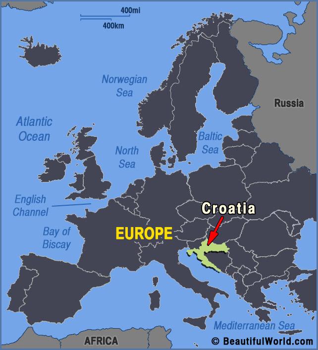 croatia-europe-map