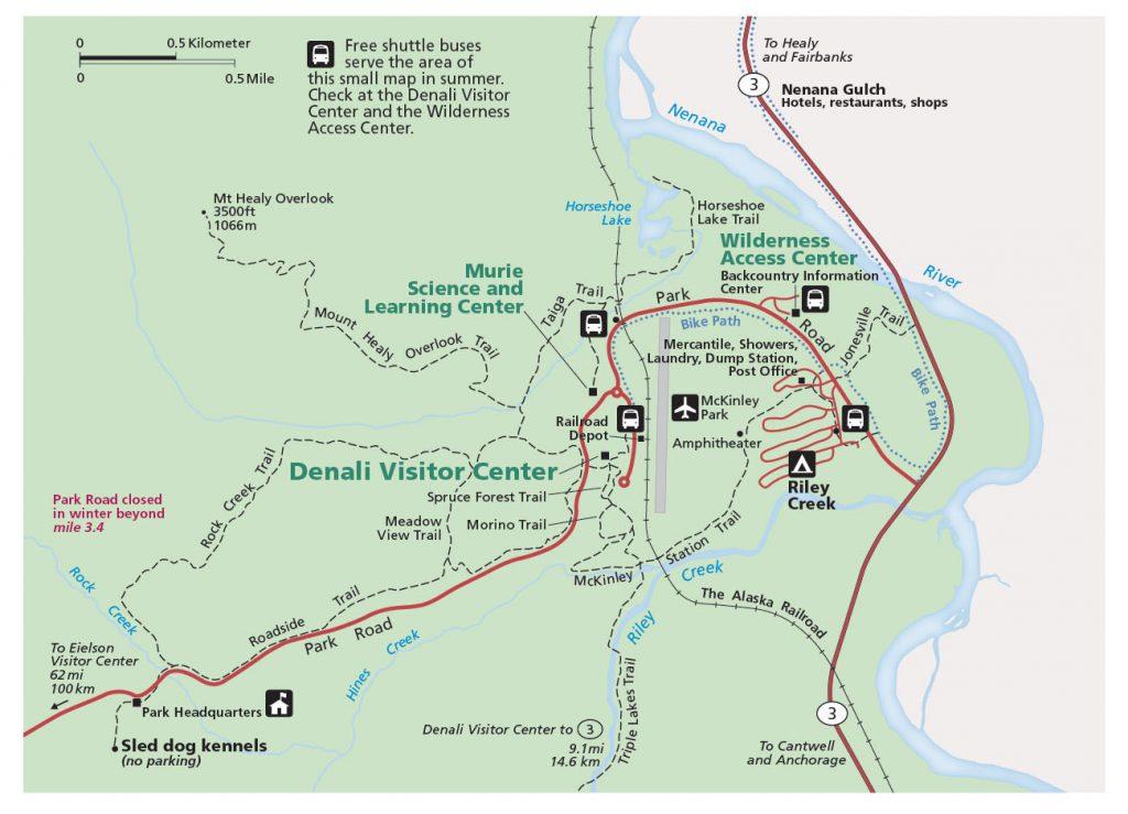 Denali Park Map
