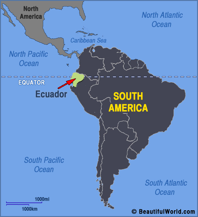 Ecuador On The Map Map of Ecuador   Facts & Information   Beautiful World Travel Guide