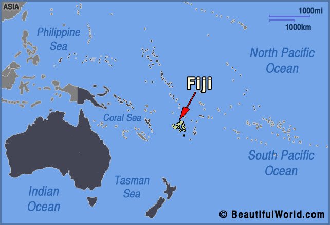 Fiji On World Map Map of Fiji   Facts & Information   Beautiful World Travel Guide