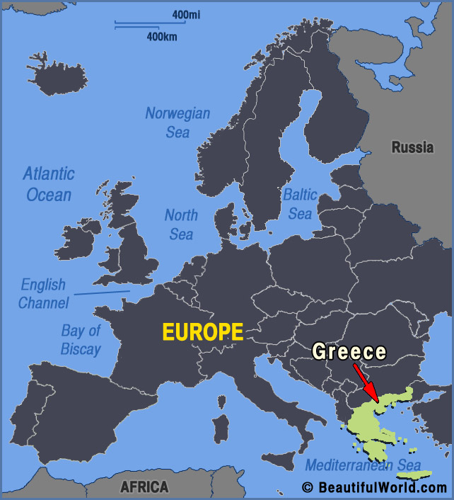 greece europe map