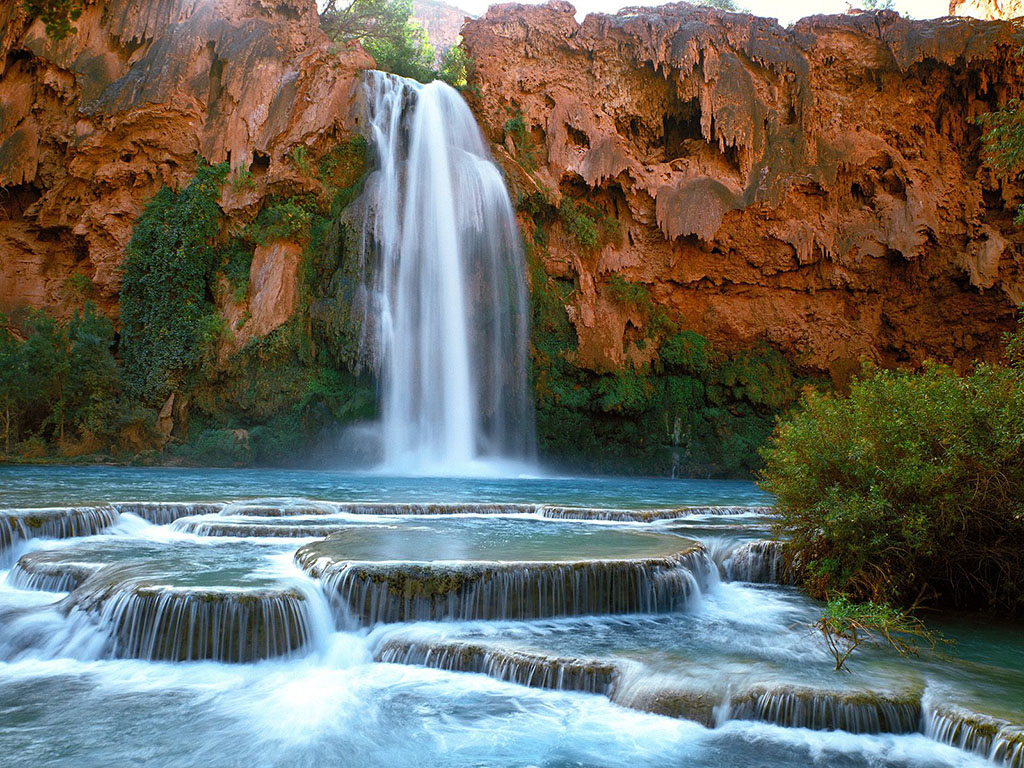 Image result for Havasu waterfall