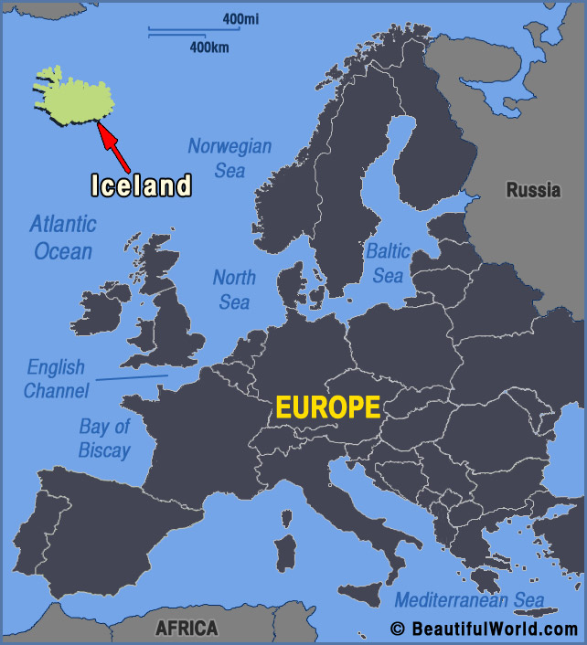 Map of Iceland   Facts & Information   Beautiful World Travel Guide