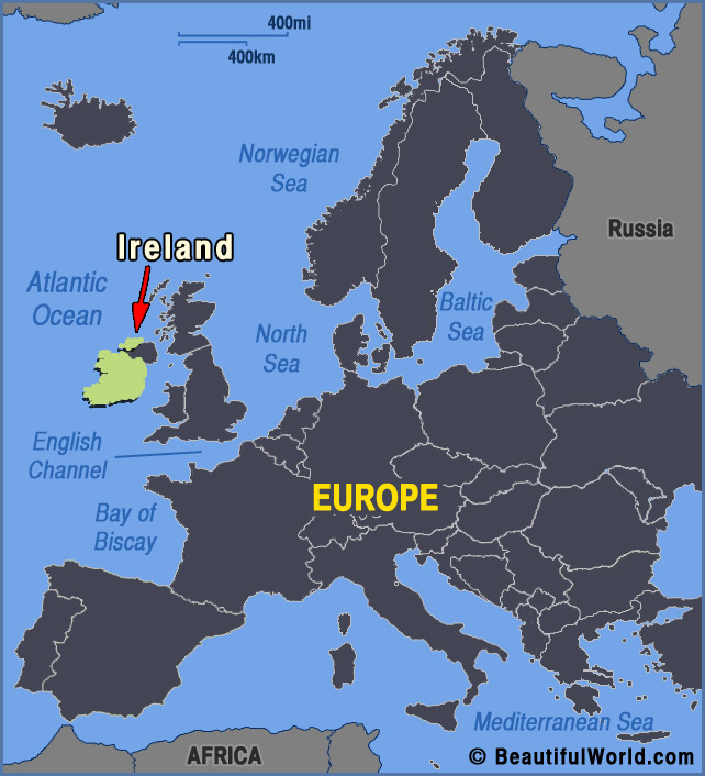 Ireland Map Europe Map of Ireland   Facts & Information   Beautiful World Travel Guide