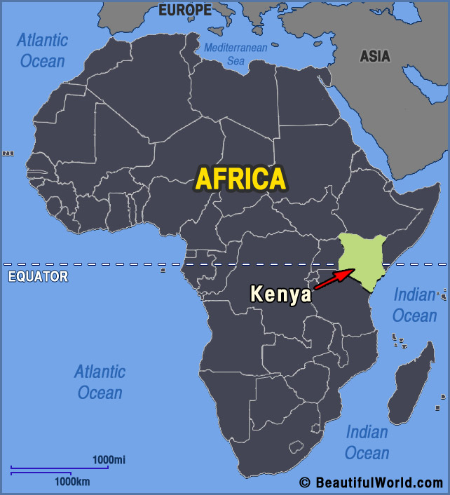 Map of Kenya - Facts & Information - Beautiful World Travel ...