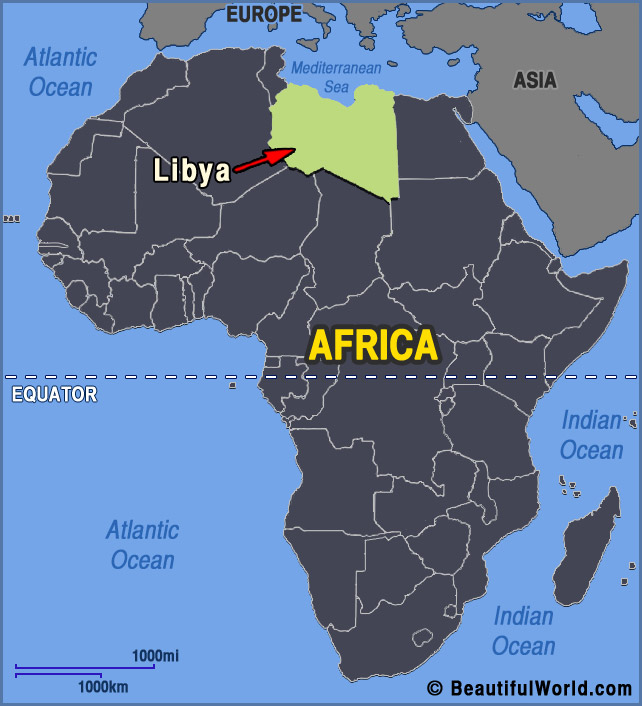 Map of Libya   Facts & Information   Beautiful World Travel Guide