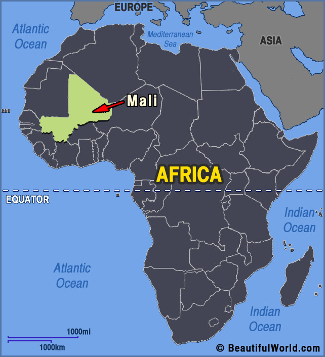Delightful Mali Africa Map