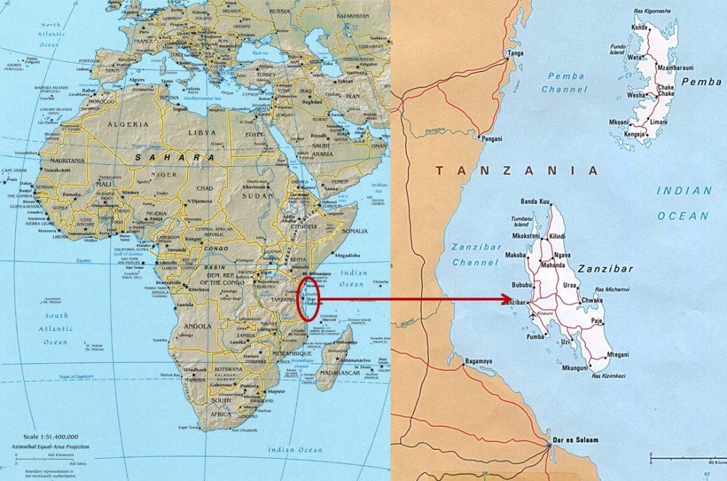 Αποτέλεσμα εικόνας για map of  zanzibar