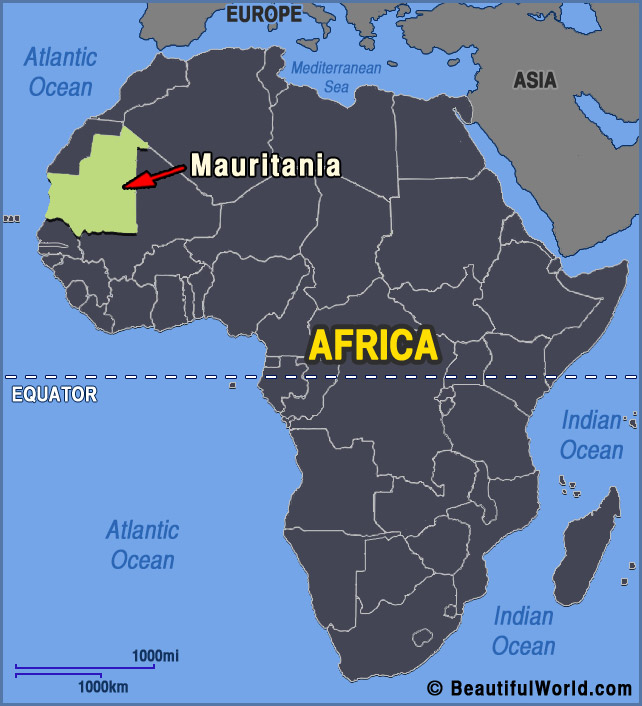 Map of Mauritania   Facts & Information   Beautiful World Travel Guide