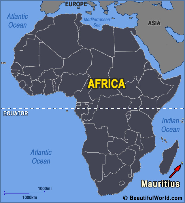 Map of Mauritius - Facts & Information - Beautiful World ...