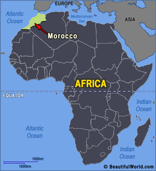 map of morocco facts information beautiful world travel guide