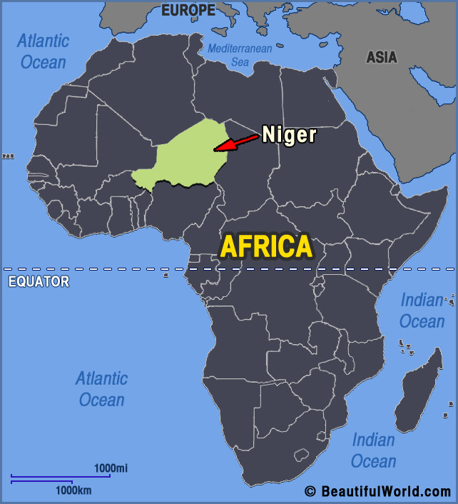 Niger Africa Map Map of Niger   Facts & Information   Beautiful World Travel Guide