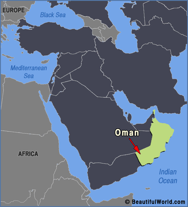 Map of oman facts information beautiful world travel guide oman map publicscrutiny Image collections