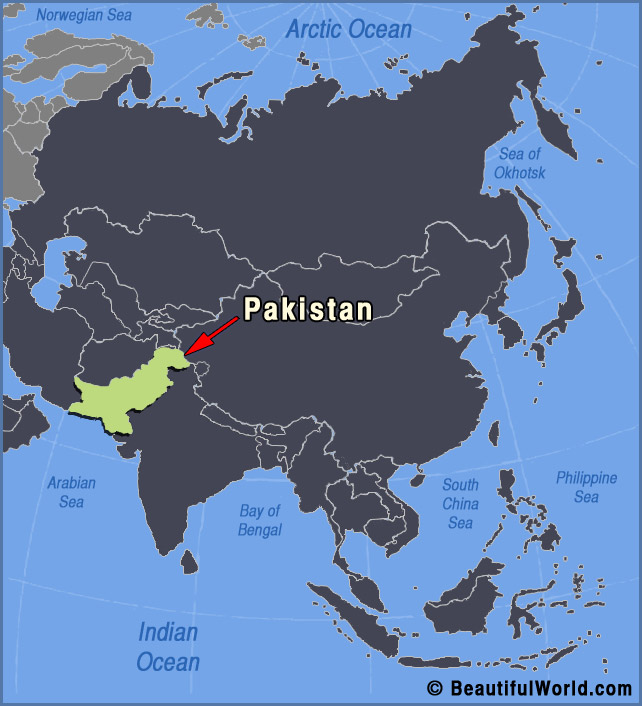Map Of Pakistan Facts Information Beautiful World Travel Guide - World map pakistan