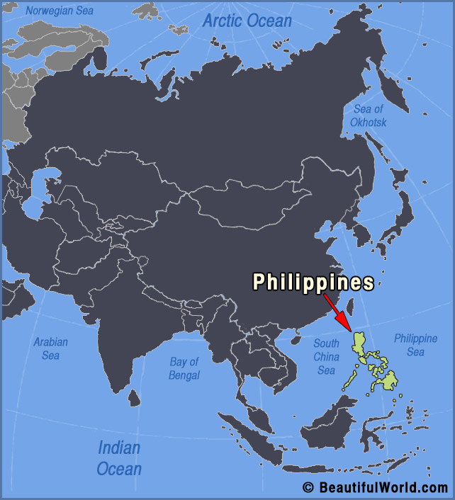 Map of philippines facts information beautiful world travel guide philippines map gumiabroncs Gallery