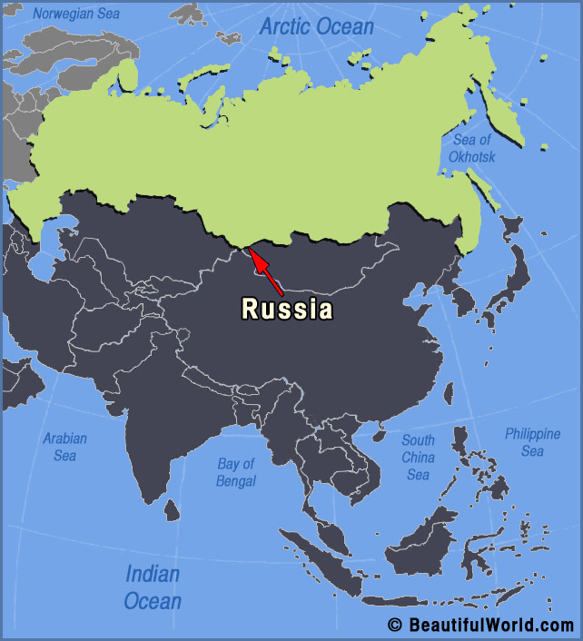 Map of Russia - Facts & Information - Beautiful World Travel Guide