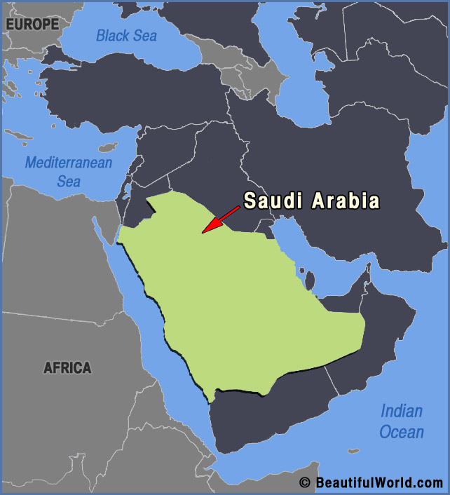 Map of Saudi Arabia - Facts & Information - Beautiful World Travel Guide