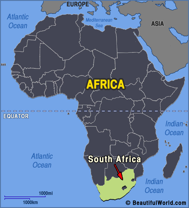 south africa on africa map Map Of South Africa Facts Information Beautiful World Travel