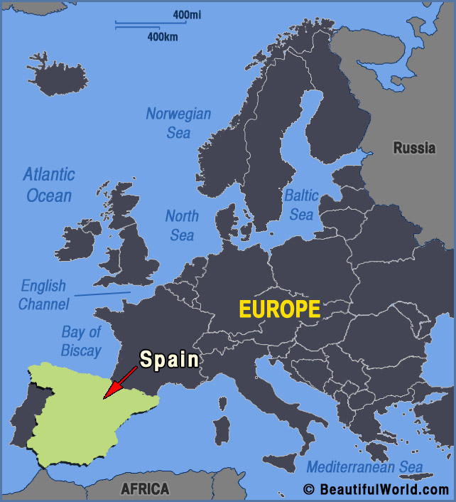 Spain On Map Of World.Map Of Spain Facts Information Beautiful World Travel Guide