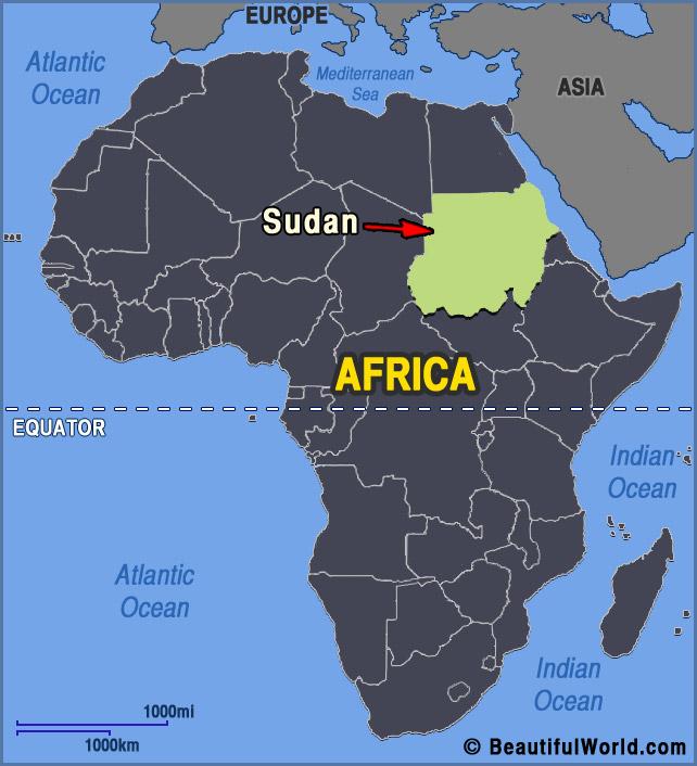 sudan-africa-map